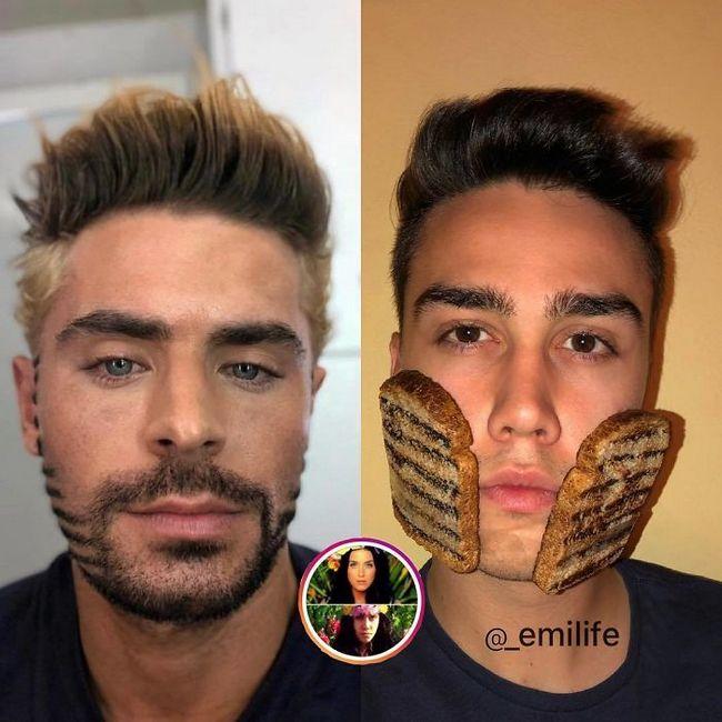 Ele ganhou milhares de fãs no Instagram ao recriar fotos de celebridades