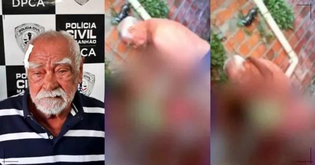 Idoso abusa de menina de 9 anos, Vizinho filma e o entrega a polícia